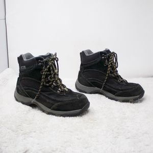 LL Bean Black Sued Hiking Boots Size 6.5